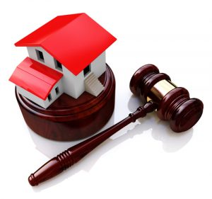 gavel and house